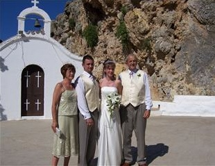 Wedding at St.Paul's Church in Lindos